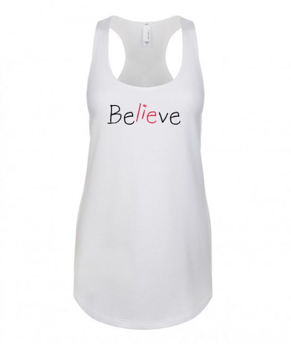 Believe - Racerback Tank Top