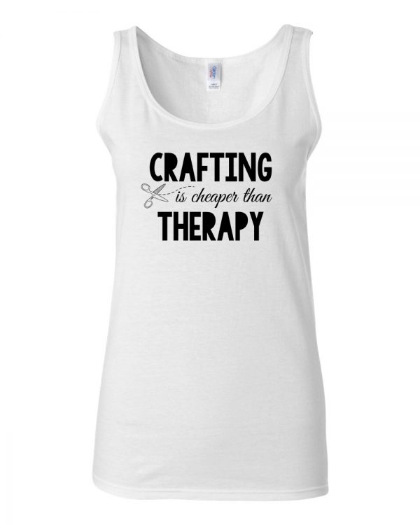 Crafting is Cheaper than Therapy - SoftStyle Tank Top