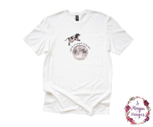 And The Cow Jumped Over The Moon - Nursery Rhyme Anvil Unisex T-Shirt