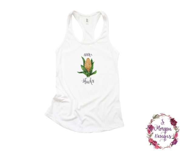Aww Shucks Corn on the Cob Racerback Tank Top