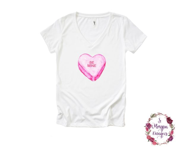 Be Mine Sweetheart Candy V-Neck T-Shirt