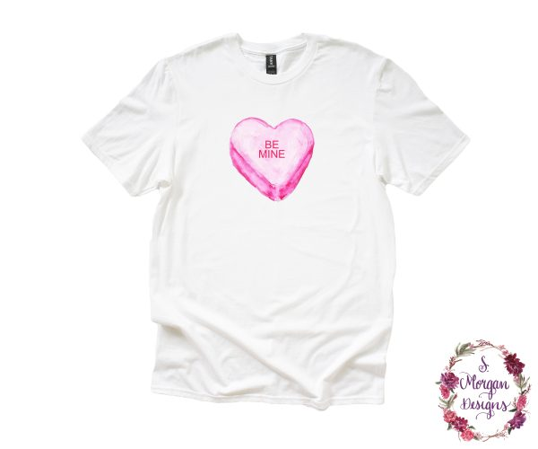 Be Mine Sweetheart Candy Anvil Unisex T-Shirts