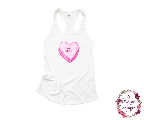Be Mine Sweetheart Candy Racerback Tank Top