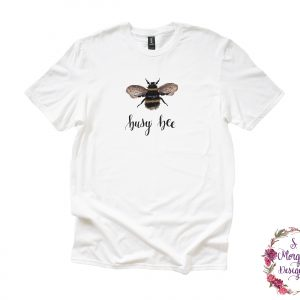 Busy Bee - Watercolor Bumblebee Anvil Unisex T-Shirt