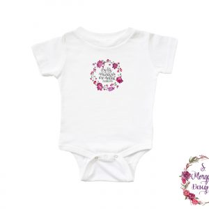 By His Wounds We Are Healed Isaiah 53:5 - Pink Floral Inspirational Infant Romper