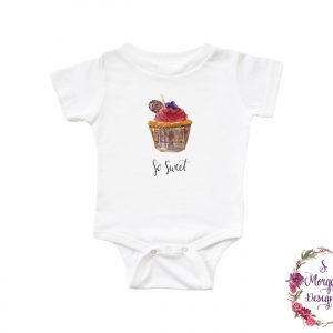 Watercolor Cupcake - So Sweet Infant Romper