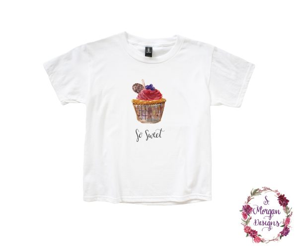 Watercolor Cupcake - So Sweet Anvil Youth Lightweight T-Shirt