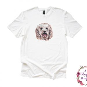 Watercolor Dog Anvil Unisex T-Shirts