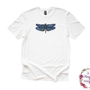 Beautiful Blue Dragonfly Anvil Unisex T-Shirt