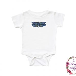 Beautiful Blue Dragonfly Infant Romper