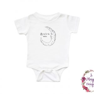 Fly Me to the Moon Art Infant Romper