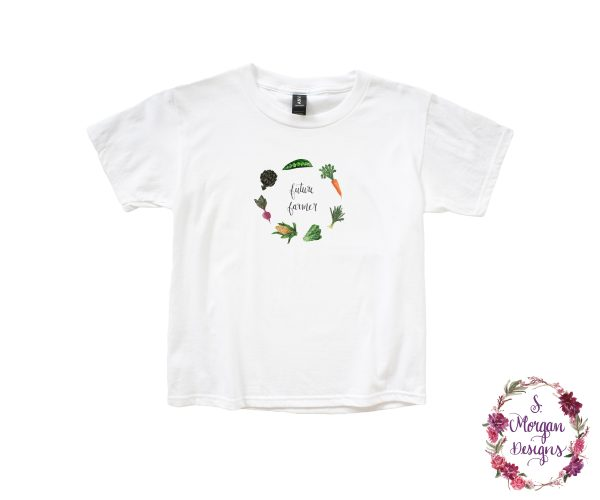 Future Farmer - Watercolor Vegetables Anvil Youth Lightweight T-Shirt