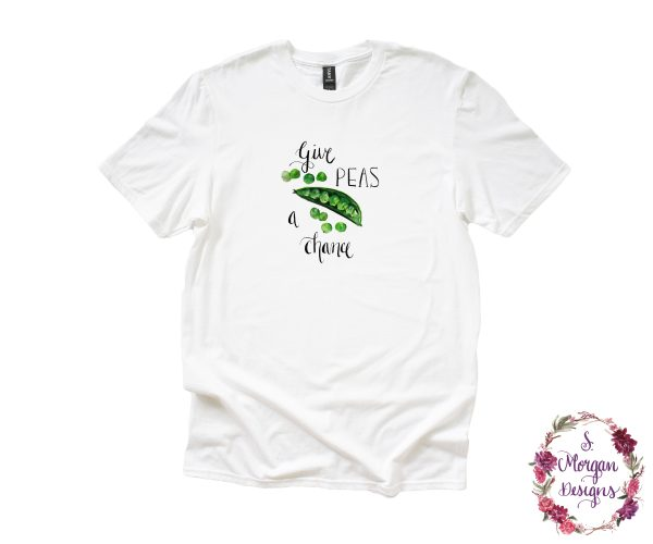 Give Peas a Chance - Watercolor Snap Peas Anvil Unisex T-Shirt