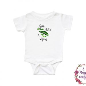 Give Peas a Chance - Watercolor Snap Peas Infant Romper