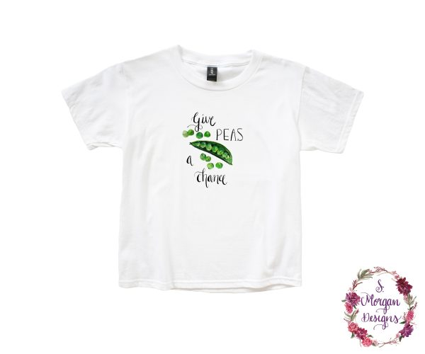 Give Peas a Chance - Watercolor Snap Peas Anvil Youth Lightweight T-Shirt