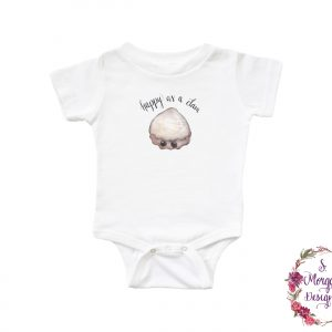 Happy as a Clam Infant Romper
