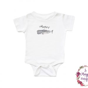 I Whale Always Love You - Sperm Whale Art Infant Romper