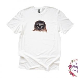 Watercolor Sloth Anvil Unisex T-Shirt