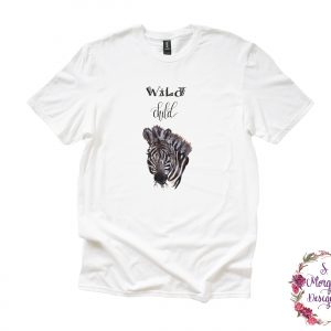 Wild Child Zebra Anvil Unisex T-Shirt