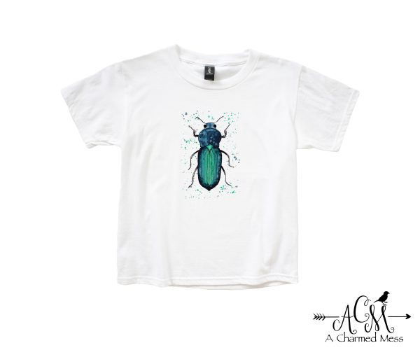 Watercolor Beetle Youth T-Shirt